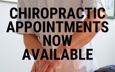 Chiropractic Appointments – Coronavirus (Covid-19) Procedures