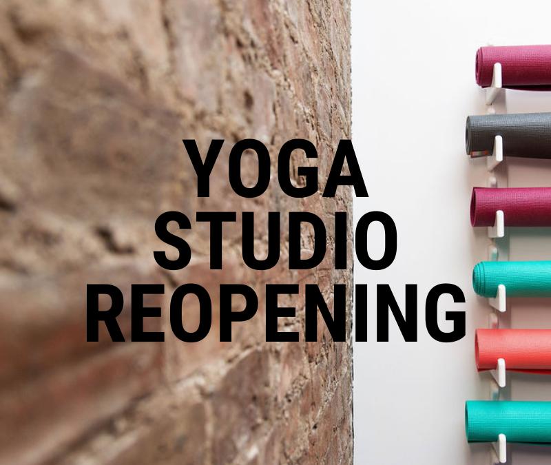 Yoga Studio Re-Opening